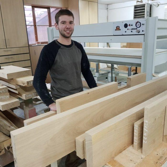 Florian Schwering Tischlergeselle seit 2012 bei der 3D CNC Tischlerei Cluse beschäftigt